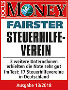 Focus-Money Testsiegel Fairster Steuerhilfeverein